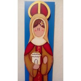 Artesanías Vírgenes Mdf Virgen Santa Eduviges