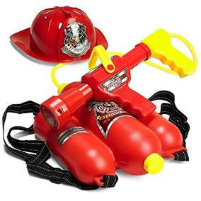 Prextex Bombero Mochila Agua Pistola Blaster Con Fuego Somb