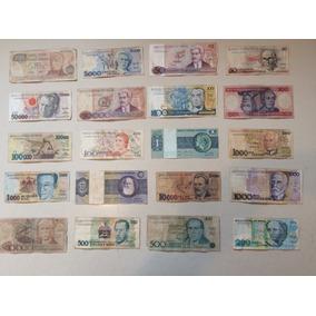 Lote 20 Notas Cédulas Dinheiro Antigo Colecionador