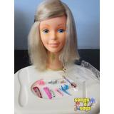 Boneca Barbie Face Da Estrela Busto Cabeça Para Pentear