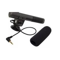 Microfone P/ Filmadora Profissional Shotgun Canon Nikon