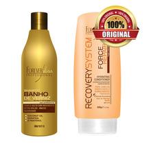 Shampoo Banho De Verniz + Condicionador 200ml Force Repair