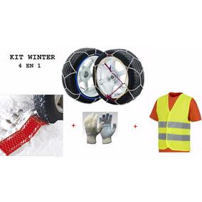 Kit Winter 4 En 1- Cadena Nieve 12mm Huella+ Chaleco+ Guante