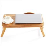 Mesa De Bambú Para Notebook Portátil Ordenador De Cama