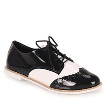 Sapato Oxford Feminino Dariely - Pto/bco