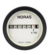 Horimetro Cuenta Horas Electrónico Orlan Rober 52mm Blanco