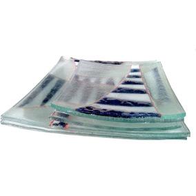 Platos De Vidrio Sushi 25 Cm,23, 21,18 Y 12 Cm Vitrofusión