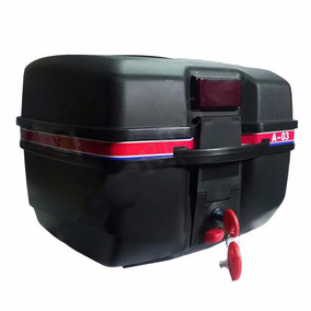 Baul Baulera Para Moto Negro Capacidad Un Casco Kadima