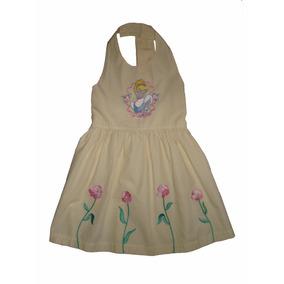 Vestido Princesas De Disney Cenicienta Bordada Talla 4/5