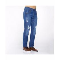Jeans Roto Destroyer Con Strech 30-38