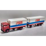 Escala N 1:160 Caminhão Com Reboque Refrigerado Wiking C4