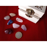 Set Piedras 7 Chakras Con Caja Portable Reiki Terapias