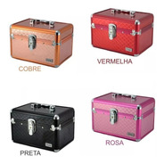 Maleta Vazia Ruby's Cisne Joias P/ Kit Maquiagem 2 Bandejas