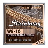 Encordoamento Strinberg Cordas Violão Aço 0.10 Ws10 Bronze