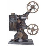 Projetor Filme Cinema Estilo Vintage Antigo Retro Em Resina