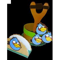 Centros De Mesa + Servilleteros Angry Birds Por 4 Unidades