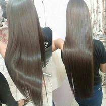 Alongamento Aplique Mega Hair Tic Tac/ Castanho 65 Cm.