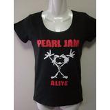 Polera Pearl Jam, Mujer, Alive.