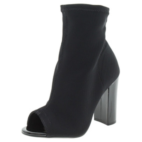Bota Feminina Ankle Boot Preto/croco Via Marte - 173401