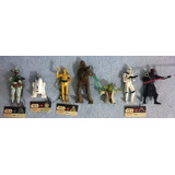 Kit Com 7 Personagens Star Wars - Chaveiros Long Jump