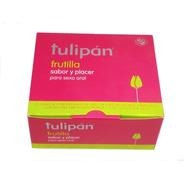 Tulipán Preservativos Frutilla 12 Cajitas X 3