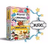 Kit Imprimible Empresarial Invitaciones Cajas Tarjetas,