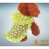 Roupa De Cachorro Leve Cor Verde Com Capa-chuva - Tamanho M