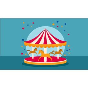 Painel De Festa Circo Carrossel 240x130 Cm
