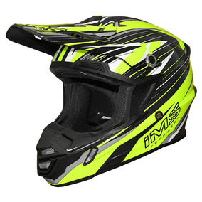 Capacete Ims Action Pro Neon Cinza Abs Trava Profissional