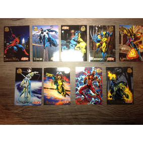 9 Cards Colecionáveis Marvel Freeze Games 1994