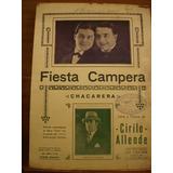 Partitura Fiesta Campera Chacarera Cirilo Allende