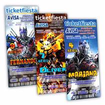 100 Invitaciones Impresas Transformers ¡envio Gratis!