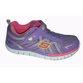 Zapatillas Niña Skechers Con Abrojo Running Urbanas