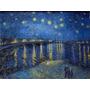 Gravura P Quadro Van Gogh 90x116cm Noite Estrelada S. Ródano