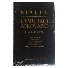 Bíblia Obreiro Aprovado Preta C/ Harpa Média Bíblia Sagrada