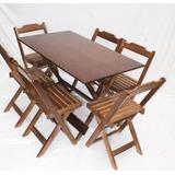 Jogo Mesa Bar 120x70 C/ 6 Cadeiras P/ Restaurante Reisol