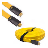 Cable Hdmi 4k Plano 3mts 1.4 High Speed 3d Skyway Oro Hd