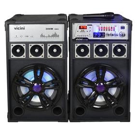 Caixa De Som Amplific Bluetooth 300w Vicini Bivolt - Vc7300