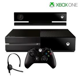Console Xbox One 500gb Kinect Headset Microsoft 1 Controle