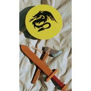 Kit De Espada, Escudo Y Hacha Vikinga