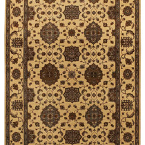 Alfombra / Tapete Handmade Afghan Ferahan Rug, Beige And Gol