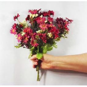 5 Buquês Flor Do Campo Maço - Flores Artificiais Artificial