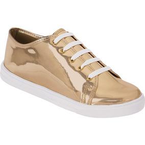 Tenis Casual Feminino Adulto Specchio | Dourado, Prata |