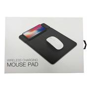 Mouse Pad Simil Cuero Con Carga Inalámbrica Rápida 10w