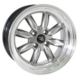 Rines 16x8 4-100 P8004 Machine Hyper Black Jgo 4 Pzas