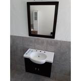 Conjunto Vanitory Colgante Venecia 60 Cm+loza Ferrum+espejo