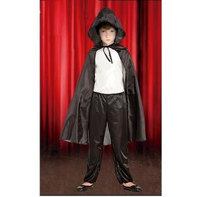 Disfraz Halloween Capa Con Capucha Negra Mirala! Jiujim