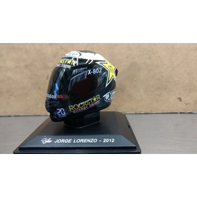 Miniatura Capacetes Moto Gp Jorge Lorenzo 2012