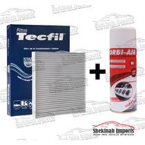 Kit Filtro Ar Condicionado + Limpa Ar Siena 1.8 Após 2010