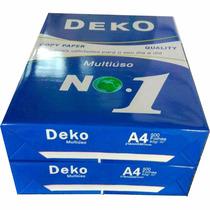 Papel Sulfite A4 Deko Multiuso - 2500 Folhas Promoção